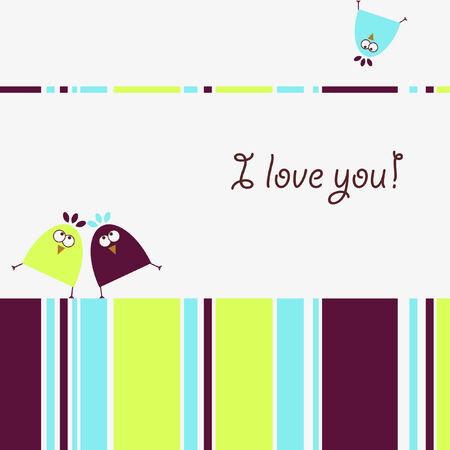 Love birds 向量圖像