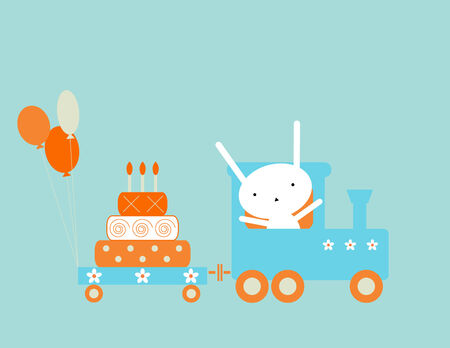 Birthday train Vector