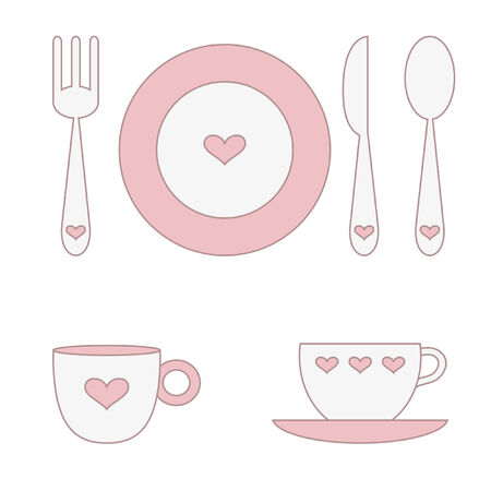 Love dishes Vector