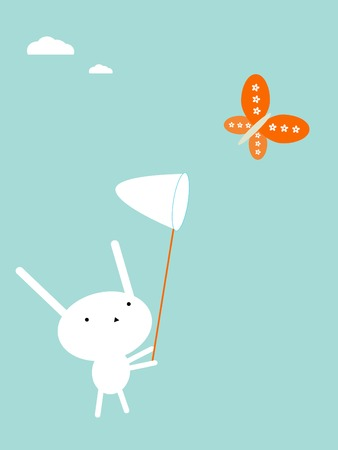 Attraper des papillons Illustration