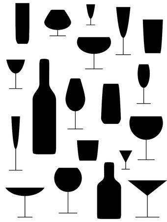 Diverse glazen  Stock Illustratie
