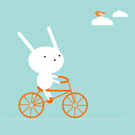 lapin: Bunny sur un vélo