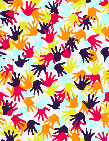 Kid's hands seamless pattern