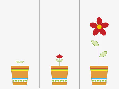 Growing bloem Stock Illustratie