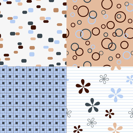 Four seamles patterns Illustration