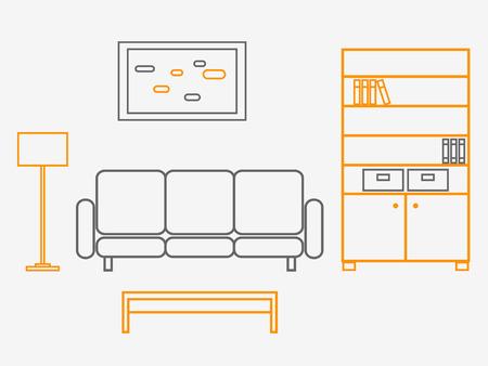 Living Room Stock Vector - 5581619