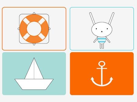 Bunny de Sailor Stock Illustratie