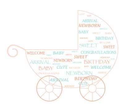Baby stroller Stock Vector - 5901858