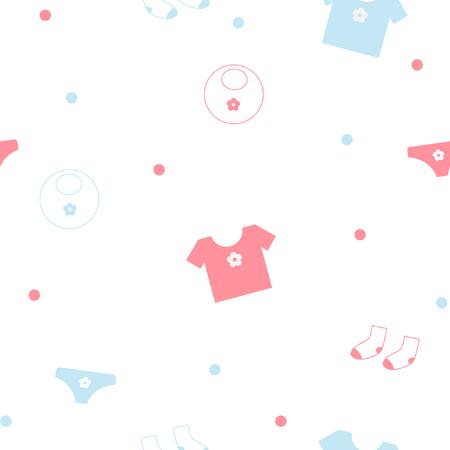 Naadloze: Naadloze patroon van baby