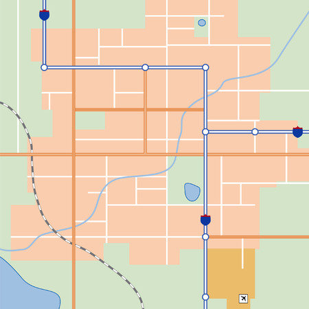 locality: City map