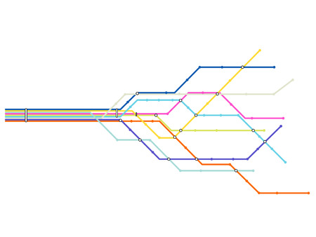 Subway map Vector