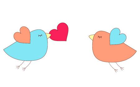 romance: Love birds Illustration