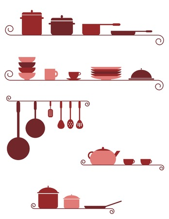 Keuken banners Stock Illustratie