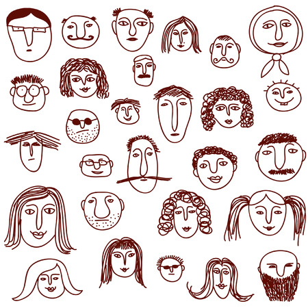 Faces doodles