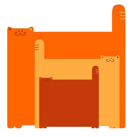 Tre gatti  Archivio Fotografico - 6380743