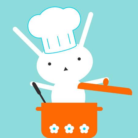 soup spoon: Bunny chef-kok