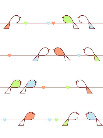 Love birds 일러스트
