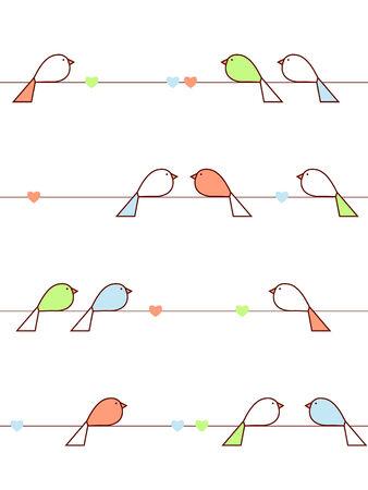 Love vogels Stock Illustratie
