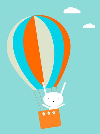 Ballon vliegen Stock Illustratie