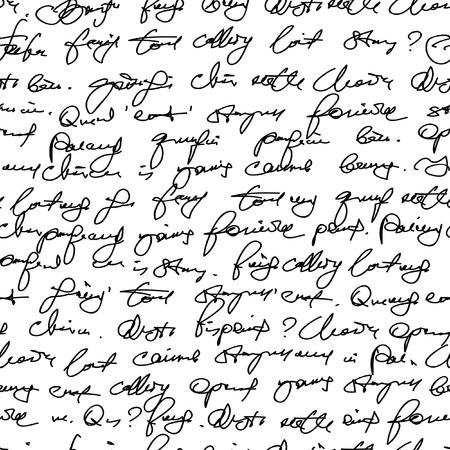 Namaak hand schrift. Naadloze patroon