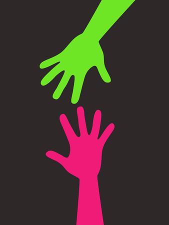 Helpende hand Stock Illustratie