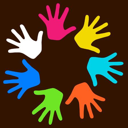 Kids hands Stock Vector - 6594560