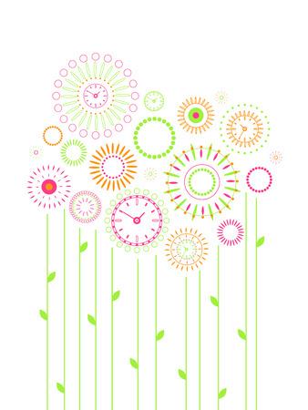 Bloemen klok