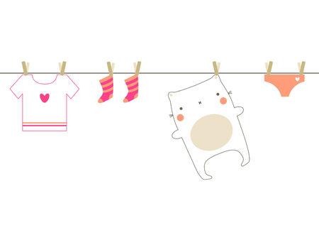 Baby laundry Vector