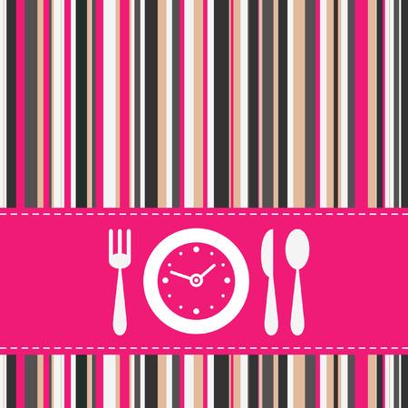 lunchen: Lunchtijd  Stock Illustratie