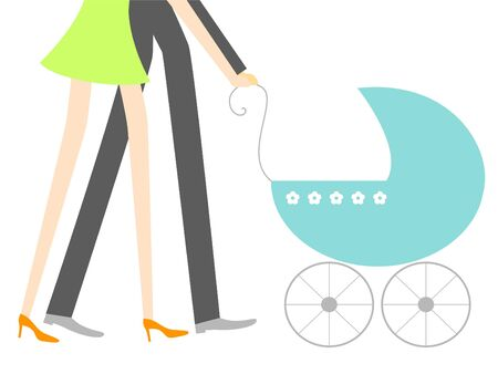 baby and mother: New baby Illustration