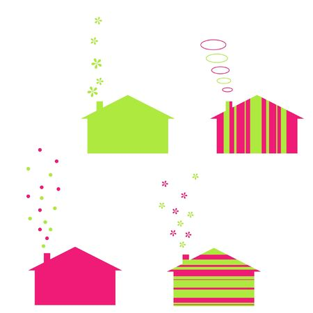 Ecology houses Vector