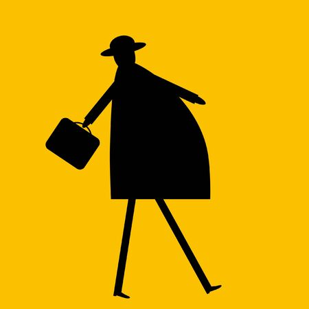 one on one meeting: Businessman with a briefcase Illustration