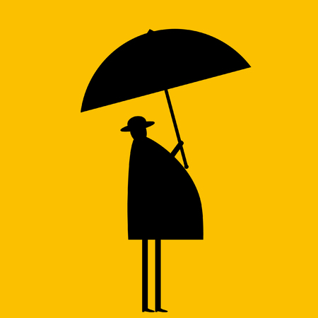 businessman shoes: Businessman under umbrella