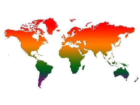 World map, rising temperatures, global warming Stock Photo - 5223714
