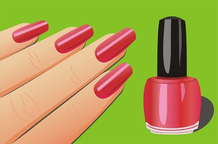 manicure salon: manicure Illustration