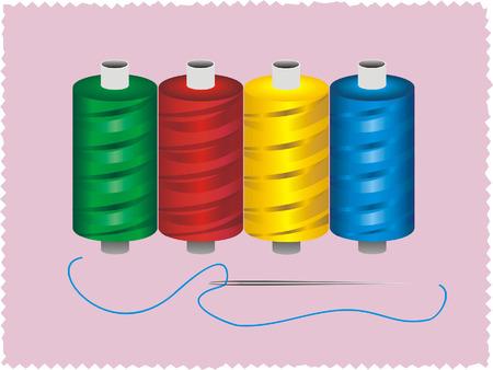 needle and thread: thread and needle