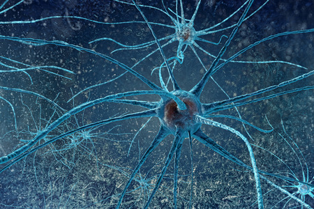 digital illustration of a neuron