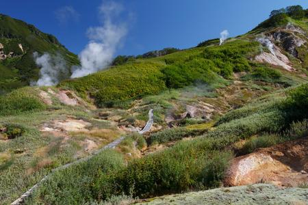 hot temper: Valley of Geysers. Kamchatka Foto de archivo
