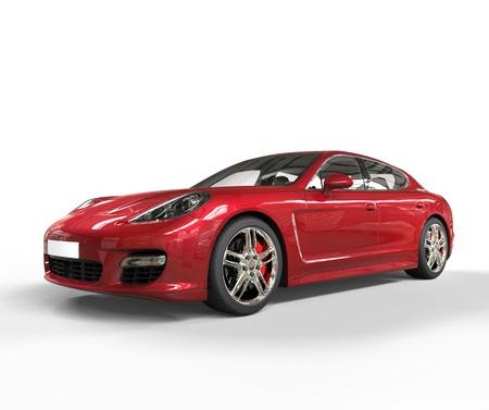 Red Fast Car Vorderansicht Standard-Bild - 28578572