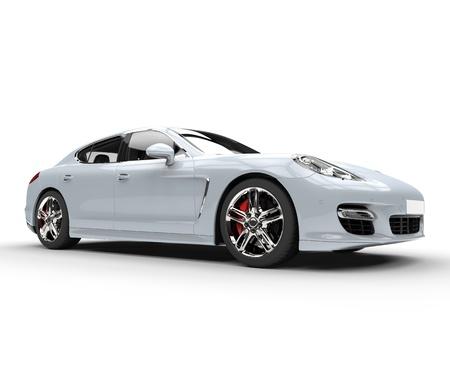 White Fast Car Standard-Bild