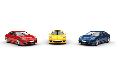 Red Yellow Blue Fast Cars