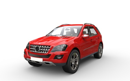 Red SUV Front View