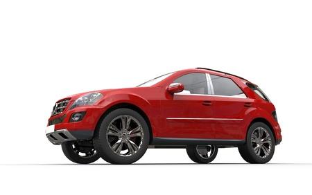 Red SUV  Standard-Bild