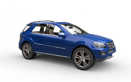 Blue SUV Front View