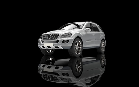 Silver SUV Front View photo