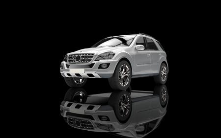 Silver SUV Front View Zdjęcie Seryjne