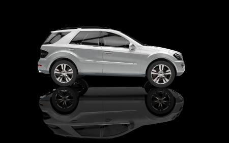 Silver SUV photo