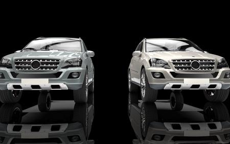 Metallic SUVs Standard-Bild - 28589584