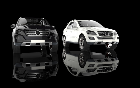 Weiße und schwarze SUV Standard-Bild - 28589587
