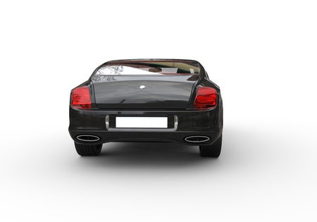 Black Business Car Back View photo